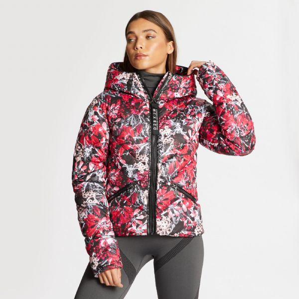 Dare 2B X Julien Macdonald - Women's Countess Waterproof Insulated Jacket Red Jewel